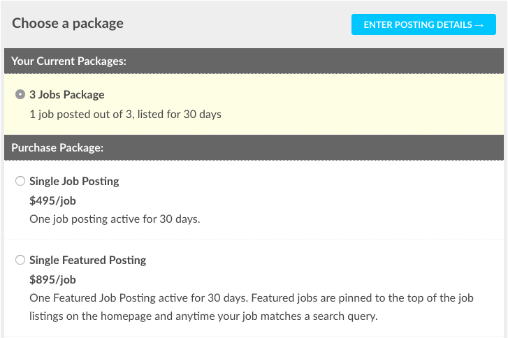 choose a job package on accountingfly