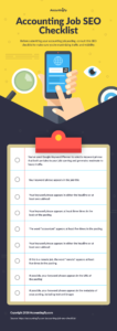 Accounting Job SEO Checklist from Accountingfly